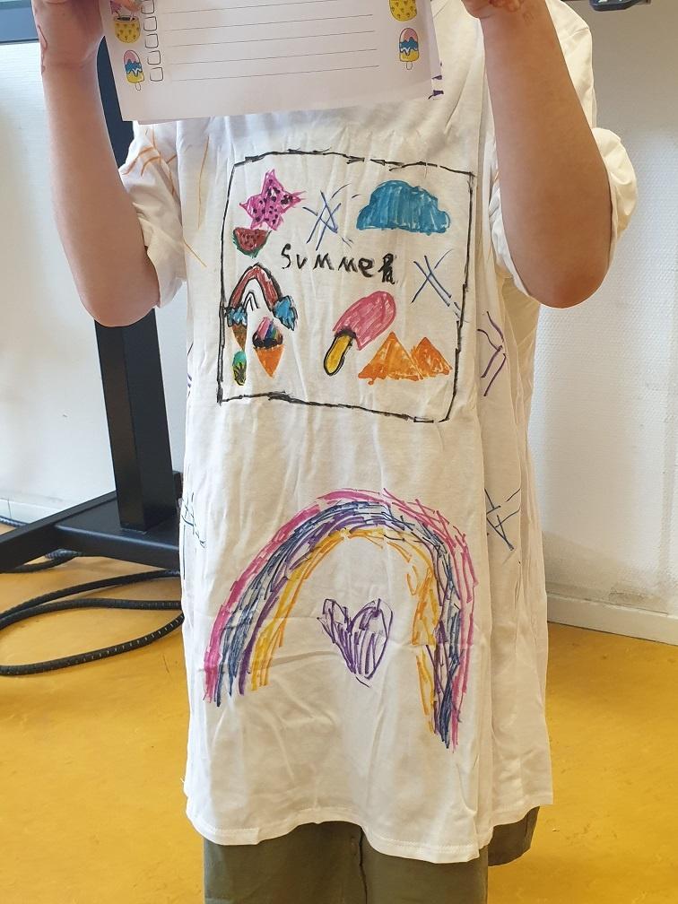voorbeeld T-shirt textielstiften